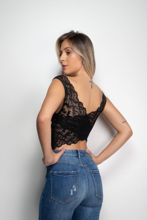 Cropped Renda Transpassado