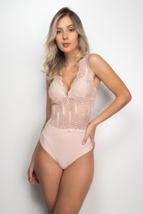 Body Bojo Soft Microfibra c/ Renda
