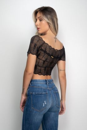 Cropped Ciganinha de Renda